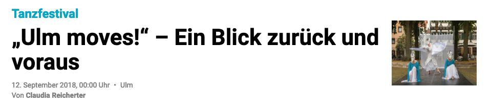 """""""Ulm moves!"""" – Ein Blick zurück und voraus"""